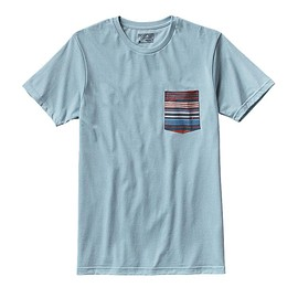 patagonia - Men's Horizon Line-Up Cotton/Poly Pocket T-Shirt - Tubular Blue