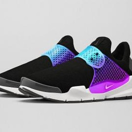 NIKE - NIKE SOCK DART BLACK GRAPE