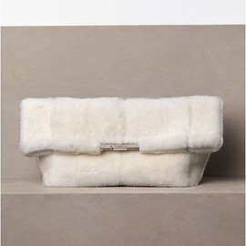 CELINE - FOLDED CLUTCH IN MINK OFF WHITE