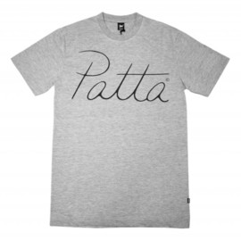 Patta - tee light script heather grey