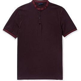 Lanvin - Slim-Fit Grandad-Collar Cotton-Piqué Polo Shirt