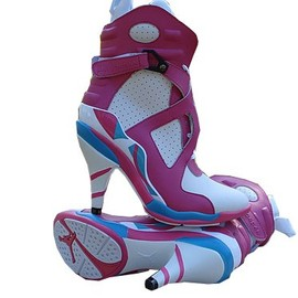 NIKE - Air jordan8 Women High Heels White Pink Blue