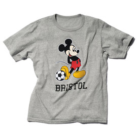 SOPHNET. - CLASSIC MELANGE PLATING STITCH MICKY MOUSE AUTHENTIC TEE