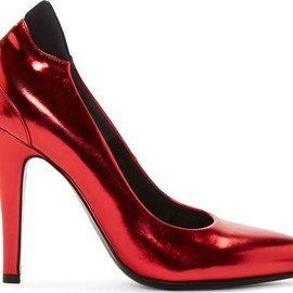 Maison Martin Margiela - FW2014 Red Metallic Leather Pumps