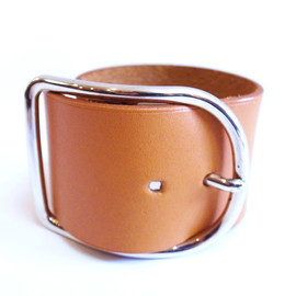 HERMES - 90s lether bangle