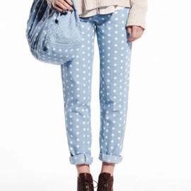 something else - Dotty Capri Pants