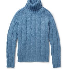 Gucci - GucciCable-Knit Mohair And Silk-Blend Rollneck Sweater