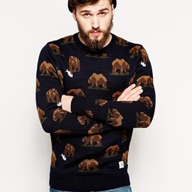 Bellfield - Bear Jacquard Sweater
