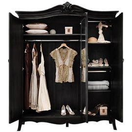 St Tropez collection  - black 3 door armoire