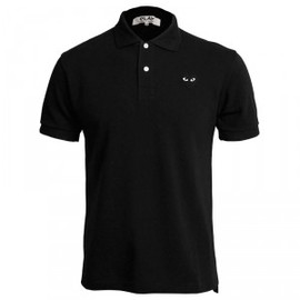 PLAY COMME des GARCONS - Black Logo Polo Shirt