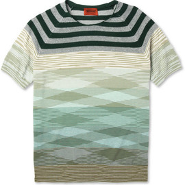 MISSONI - Knitted Cotton Crew Neck T-Shirt