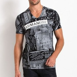 ARMANI EXCHANGE - ALLOVER CITY TEE