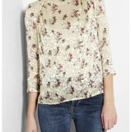 SEE BY CHLOE - 12/SS:new:▼See by Chloe▼Green Devoré Floral Blouse 1