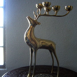 """ DEER CANDLE HOLDER """