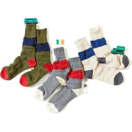 ficouture - WAFFLE COLORBLOCK SOX