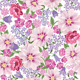 Gentle Floral Vector Seamless Pattern Wallpaper