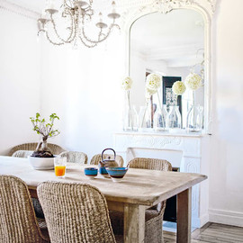 outdoor furniture for an indoor dining room
