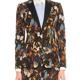 VALENTINO - Abstract Painted Feather Jacket