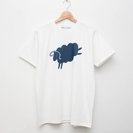 cup and cone - Cycle Sheep Tee - White x Navy