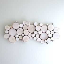 etsy - white birch forest topography - organic wood wall art - 26 x 10