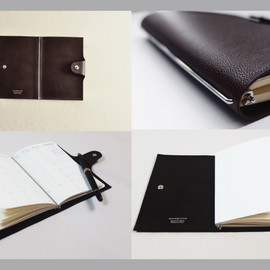 MATSUSHITA LUGGAGE - Goat Leather Quovadis Notebook Cover For Business (Made with MAISON de HIROAN)