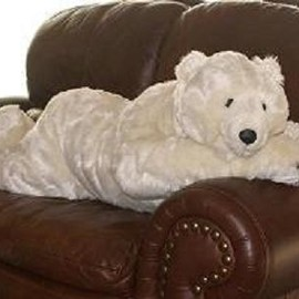 Ditz Designs - Polar Bear Stuffed Plush Body Pillow Animal Hug