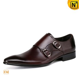 cwmalls - Mens Italian Leather Shoes Dress Monk Shoes CW761356