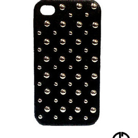 GOD BLESS U - GOD BLESS U iPhone4/4S studded Leather CASE【D.V.L.B.L.K】