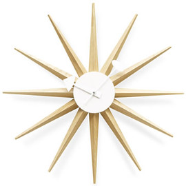 Vitra - Sunburst Clock (Natural) by George Nelson