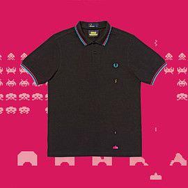 FRED PERRY - Space Invaders Laser Beam Tipped Shirt