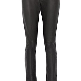 Loewe - Leather flared pants