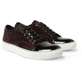 Lanvin - Lanvin Suede and Patent-Leather Sneakers