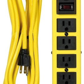 Yellow Jacket - 5138 Metal Surge Protector Strip, 15-Foot Cord, 6-Outlet