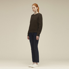 MAISON KITSUNÉ - CREW NECK SWEATER SOLID LAMBSWOOL