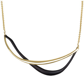 Alexis Bittar - Liquid Gold and Black Twined Necklace