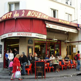 Montmartre, Paris - Cafe des 2 Moulins