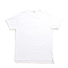WORKADAY - Crossover Neck Pocket Tee-White