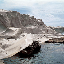 Christo and Jeanne-Claude - Wrapped Coast, One Million Square Feet, Little Bay, Sydney, Australia, 1968-69