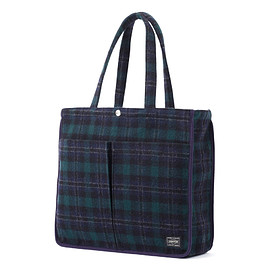 "HEAD PORTER - ""LESSON"" TOTE BAG (L) GREEN"