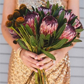 WEDDING - protea wedding bouquet