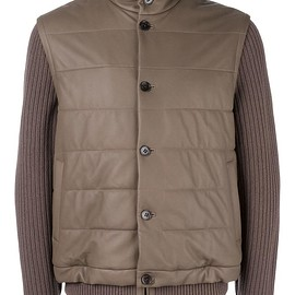 Loro Piana - ribbed sleeve jacket