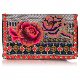 Matthew Williamson - Floral Folk Embroidered Clutch