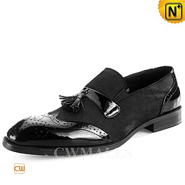CWMALLS - CWMALLS® Leather Wingtip Tasseled Loafers CW716037