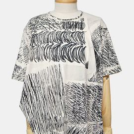 ANNTIAN - HAND PRINTED EDGY T-SHIRT
