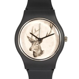 MAY 28TH - Deer Watch Black Matte Plastic Buckle