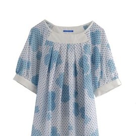 Eley Kishimoto - HSS12 TOY TOWN ANGEL TOP - BLUE
