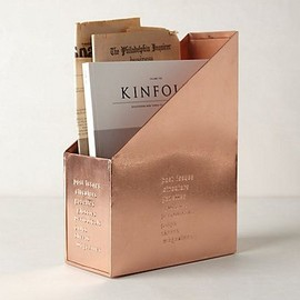 Copper magazine tidy| anthropologie