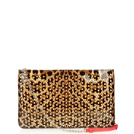 Christian Louboutin - Loubiposh Spikes patent-leather pouch