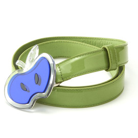 miu miu - Enamel Belt with Apple Motif