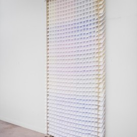 carlo clopath - colur (a portable room divider built of white paper)